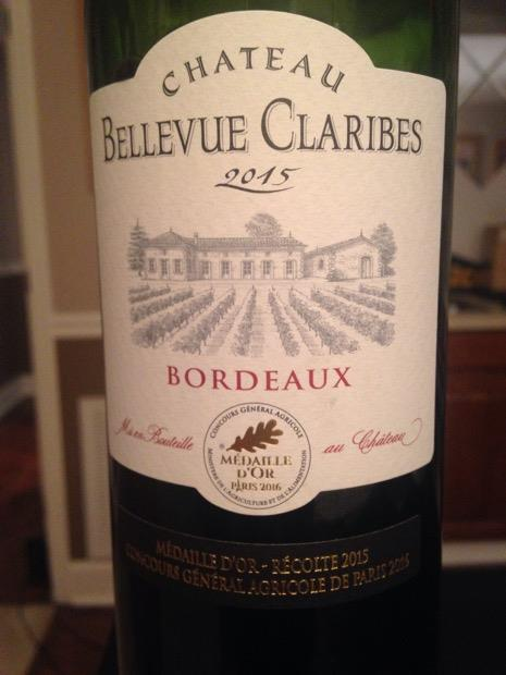 2015 Château Bellevue Claribes, France, Bordeaux, Entre-Deux-Mers, Sainte Foy Bordeaux - CellarTracker