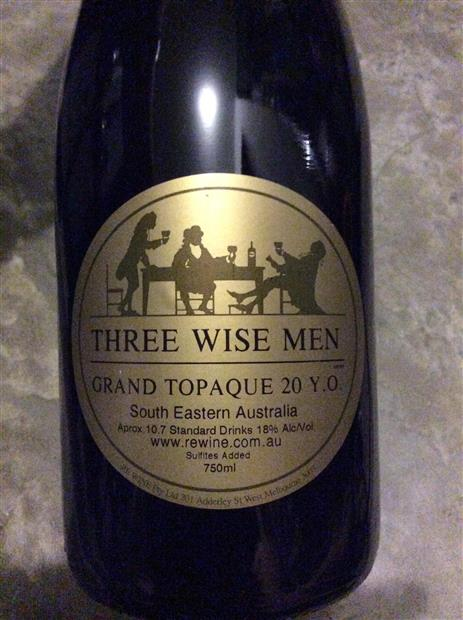 Nv Rewine Tokay Three Wise Men Grand Topaque 20 Yo Australia New