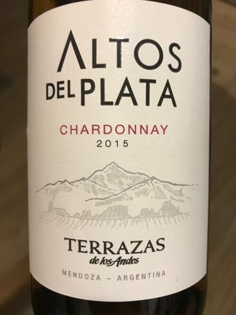 2015 Terrazas De Los Andes Chardonnay Altos Del Plata
