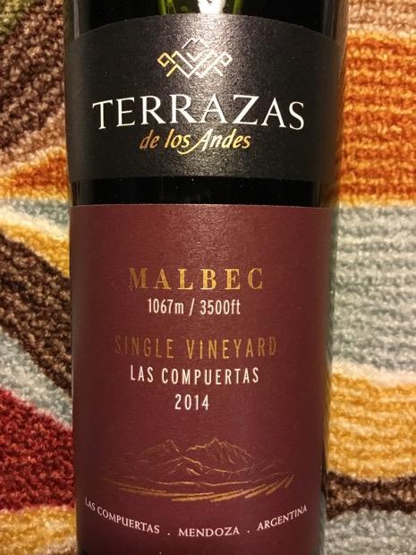 2014 Terrazas De Los Andes Malbec Single Vineyard Las