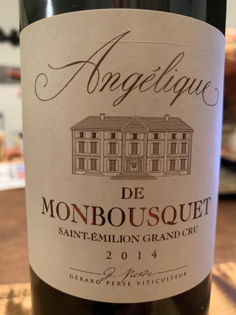 2014 Château Angelique de Monbousquet, France, Bordeaux ...