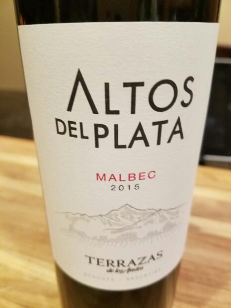 2015 Terrazas De Los Andes Malbec Altos Del Plata Argentina