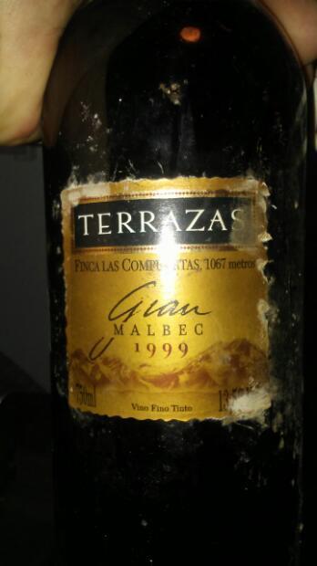 1999 Terrazas De Los Andes Gran Malbec Argentina Mendoza
