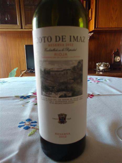 2012 Bodegas El Coto Rioja Coto De Imaz Reserva Spain La Rioja Rioja Cellartracker
