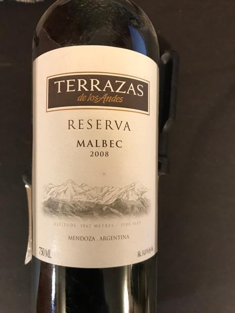 2008 Terrazas De Los Andes Malbec Reserva Argentina