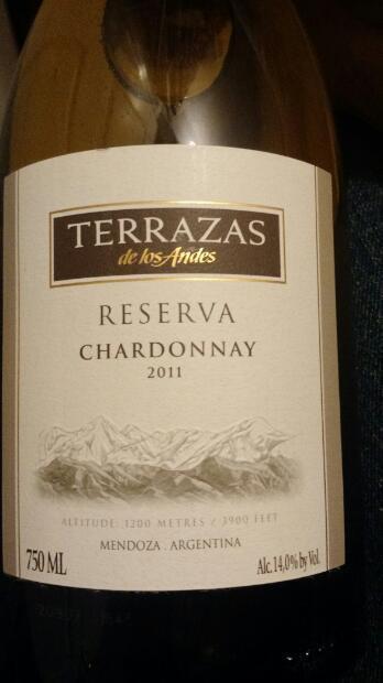 2011 Terrazas De Los Andes Chardonnay Reserva Argentina