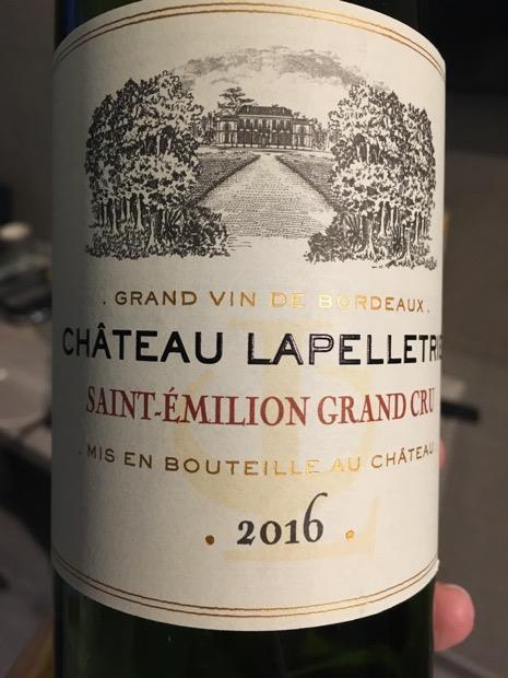 2016 Chateau Lapelletrie France Bordeaux Libournais St
