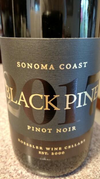2017 Roessler Pinot Noir Black Pine, USA, California ...