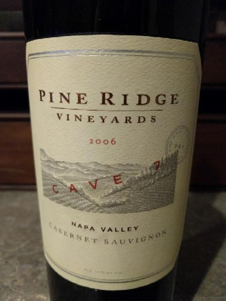 2006 Pine Ridge Vineyards Cabernet Sauvignon Cave 7, USA ...
